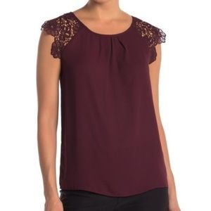Philosophy Lace Sleeve Top
